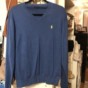 Ralph Lauren Blue V-Neck Sweater